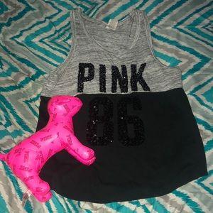 PINK tank & PINK dog